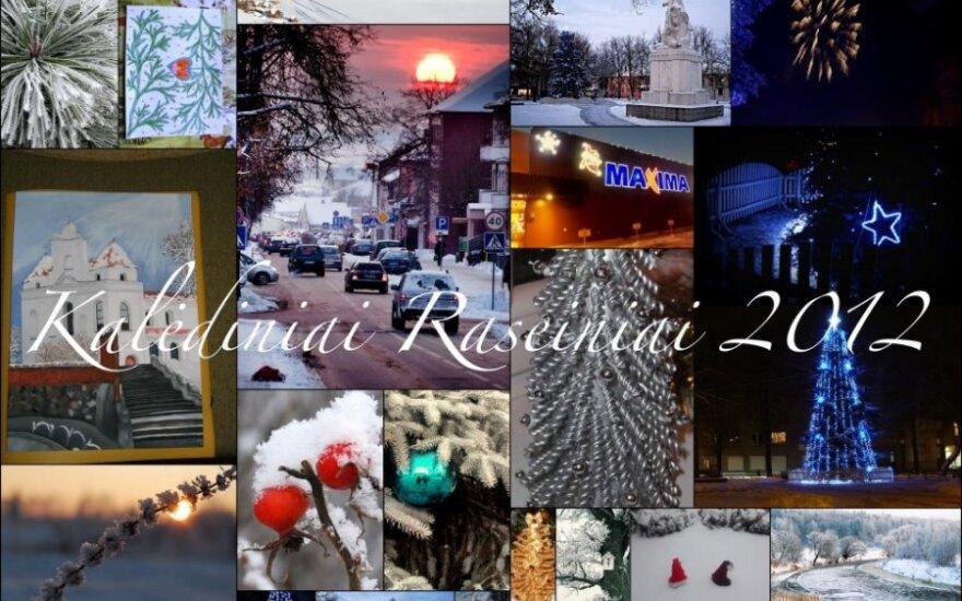 Raseiniškiai fotografavo savo kalėdinį miestą