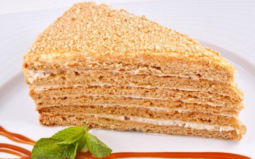 MOČIUTĖS medaus tortas
