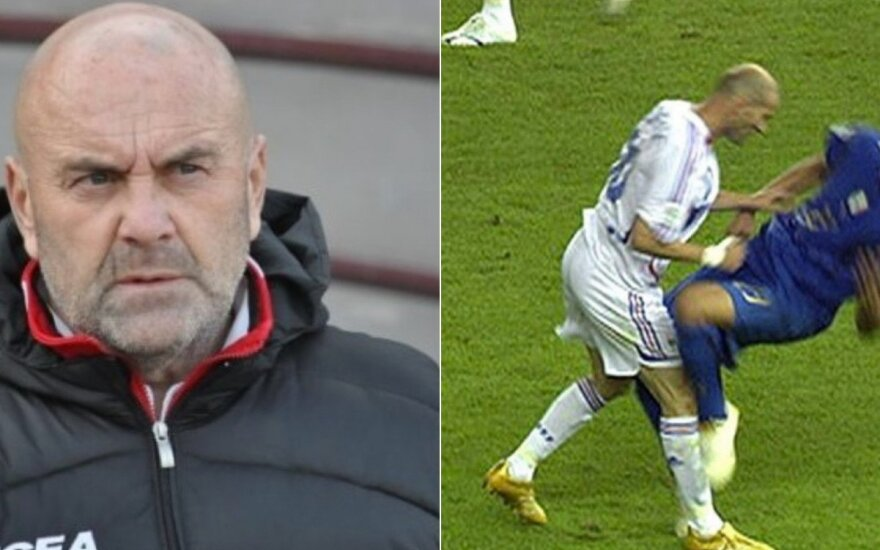 Giancarlo Favarinas, Zinedine'as Zidane'as, Marco Materrazi / Foto: Twitter