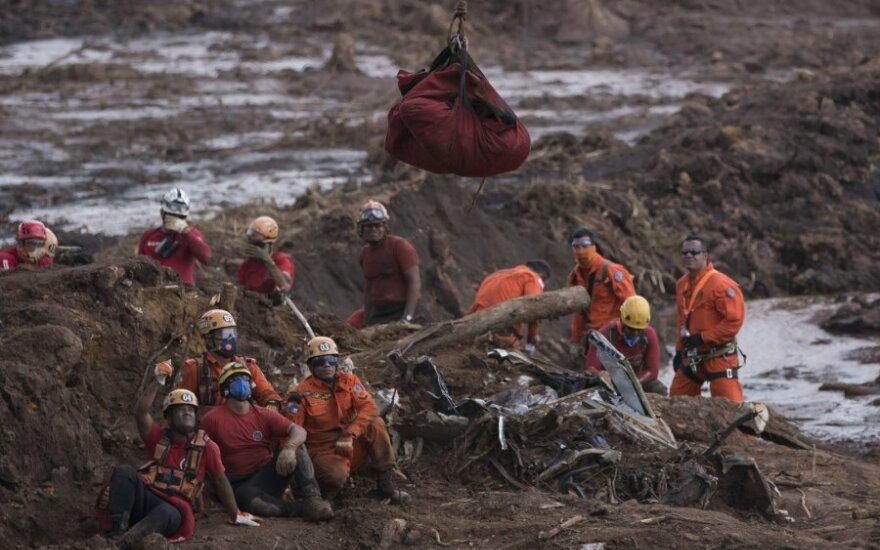 Brazilijoje užtvankos griūties aukų skaičius išaugo iki 84