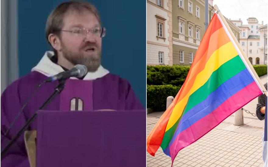 Kretingos Pranciškonų gimnazijos kapelionas Paulius Vaineikis adventinių mišių metu LGBT bendruomenės narius išvadino iškrypėliais.