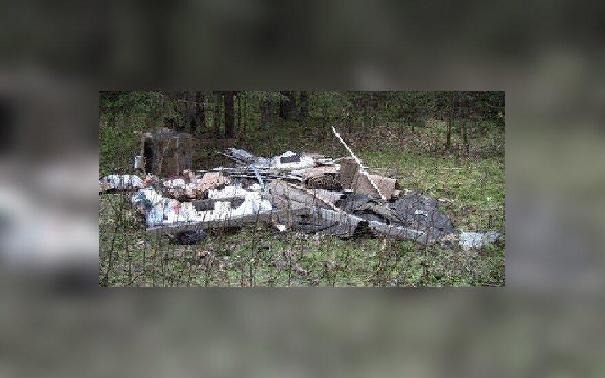Miške suversta šiukšlių krūva uždirbo didžiulę baudą