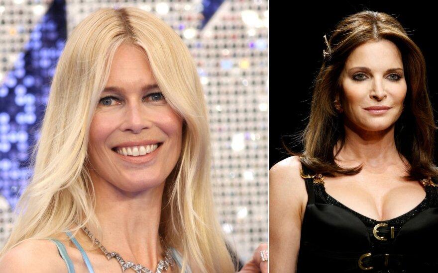 Claudia Schiffer ir Stephanie Seymour