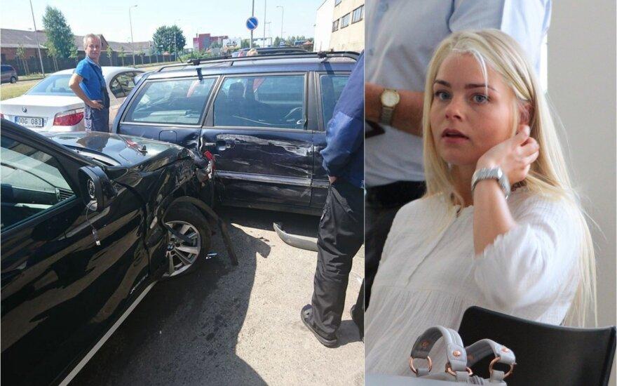 Kaune į 7 automobilių avariją pateko Seimo nario dukra
