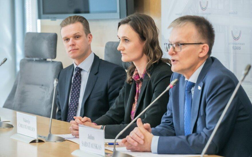 Gabrielius Landsbergis, Viktorija Čmilytė-Nielsen ir Julius Sabatauskas