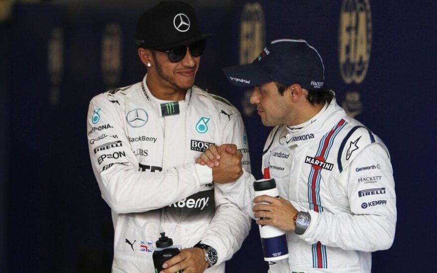 Lewisas Hamiltonas ir Felipe Massa