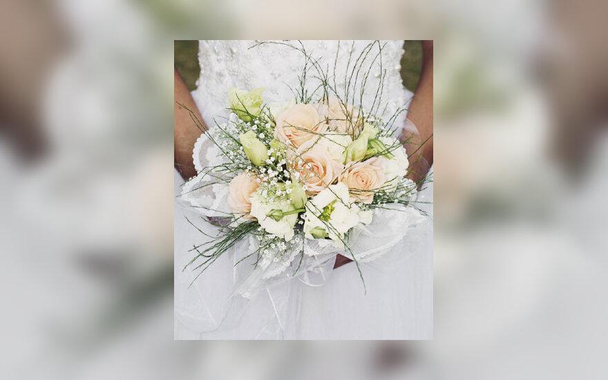 Vestuvės, nuotakos puokštė