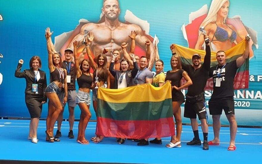 Lietuvos atstovai IFBB Europos čempionate / FOTO: IFBB.lt