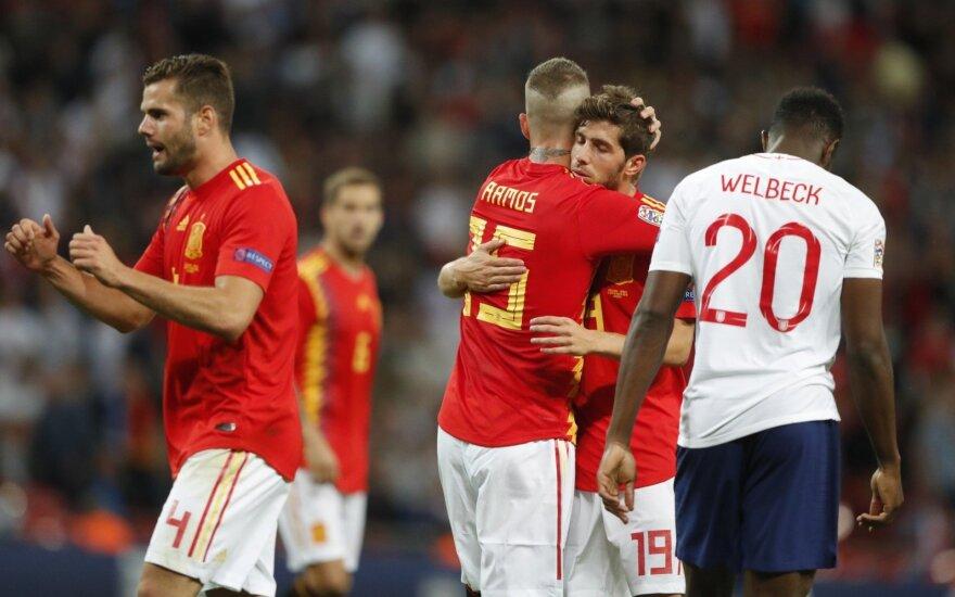 Anglijos ir Ispanijos rinktinių susitikimas