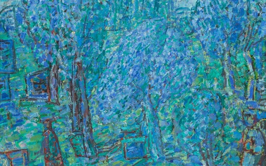 """Antanas Martinaitis. Pavasarį obelynėje, 1977. """"Lewben Art Foundation"""" kolekcijos kurinys aukcionui"""