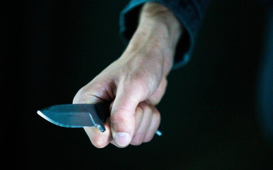 Vyriškis iš parduotuvės pavogė du butelius degtinės ir išeidamas peiliu grasino pardavėjai