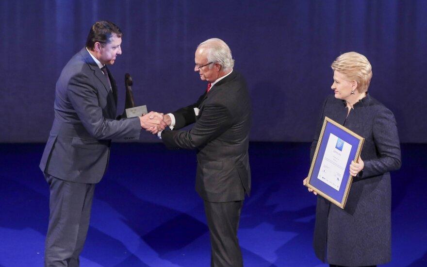 Švedijos verslo apdovanojimai 2015: Virginijus Ramanauskas, Karlas XVI Gustavas ir Dalia Grybauskaitė