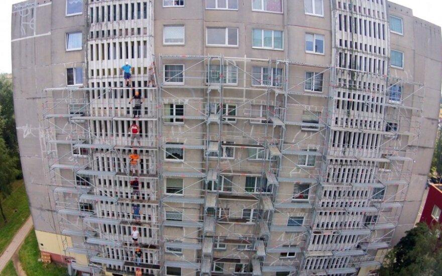 """""""Statybininkai - ekstremalai"""": vaizdas, kurio nepatartina žiūrėti bijantiems aukščio"""