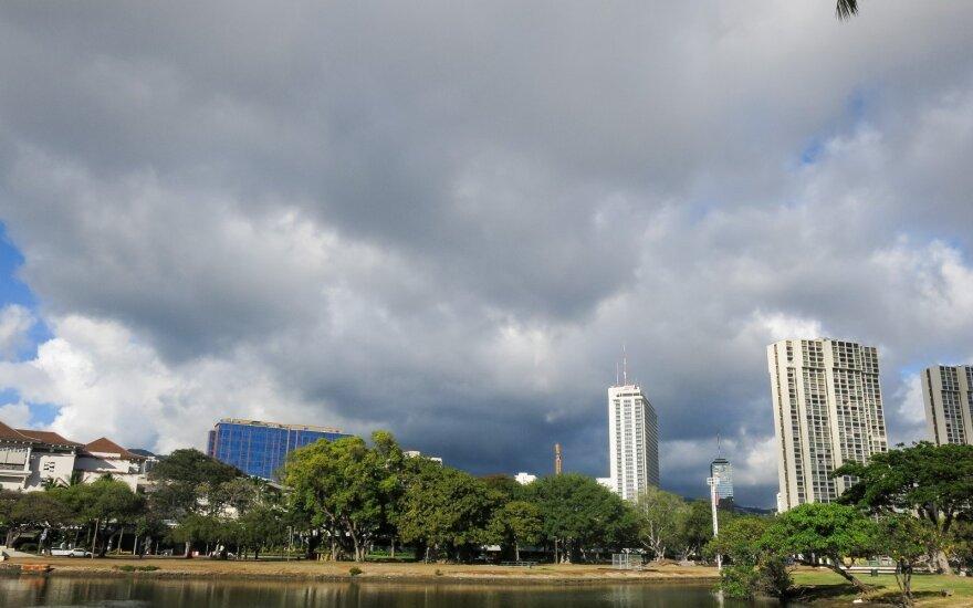 Havajų gyventojai perspėti pasiruošti uraganui Lane