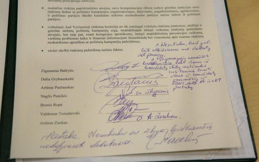 Kandidatai į prezidentus - lyg namų darbus nusirašinėjantys mokinukai