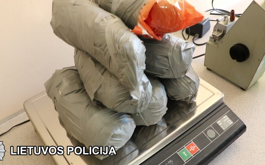 Confiscated cannabis