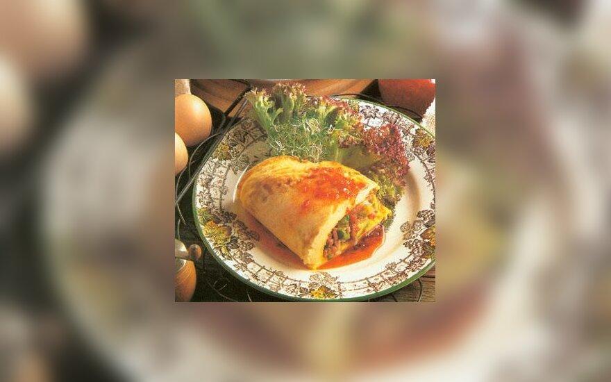 Omletas su avokadu ir sūriu