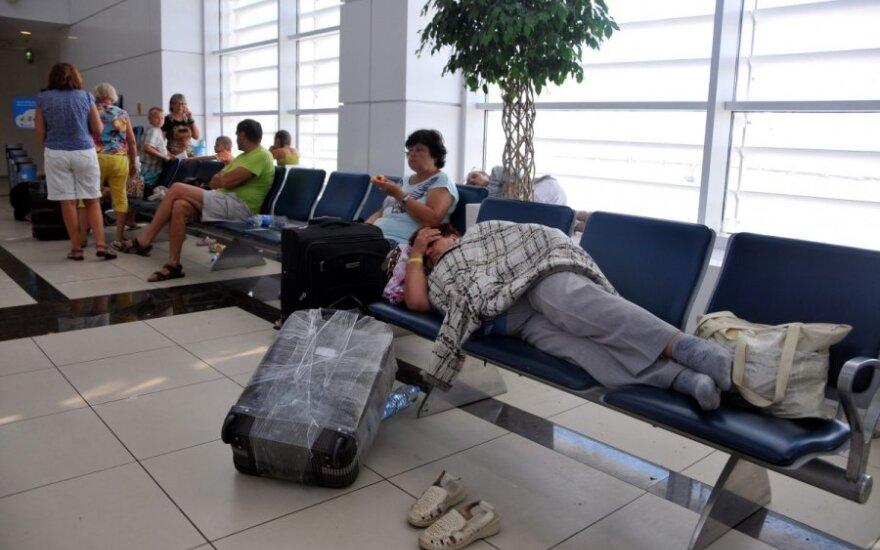 Užstrigę rusų turistai Antalijoje (Turkija)