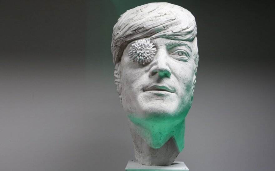 Plaster model for the John Lennon sculpture