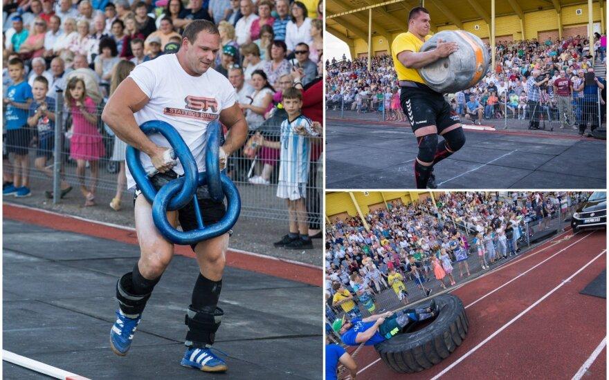 Tarptautinis galiūnų turnyras Marijampolėje / FOTO: Kazimieras Linkevičius