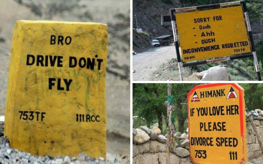 Kelio ženklai Indijoje