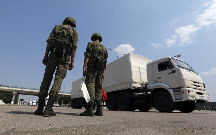 Kijevas: Rusijos konvojus bus stabdomas visais įmanomais būdais