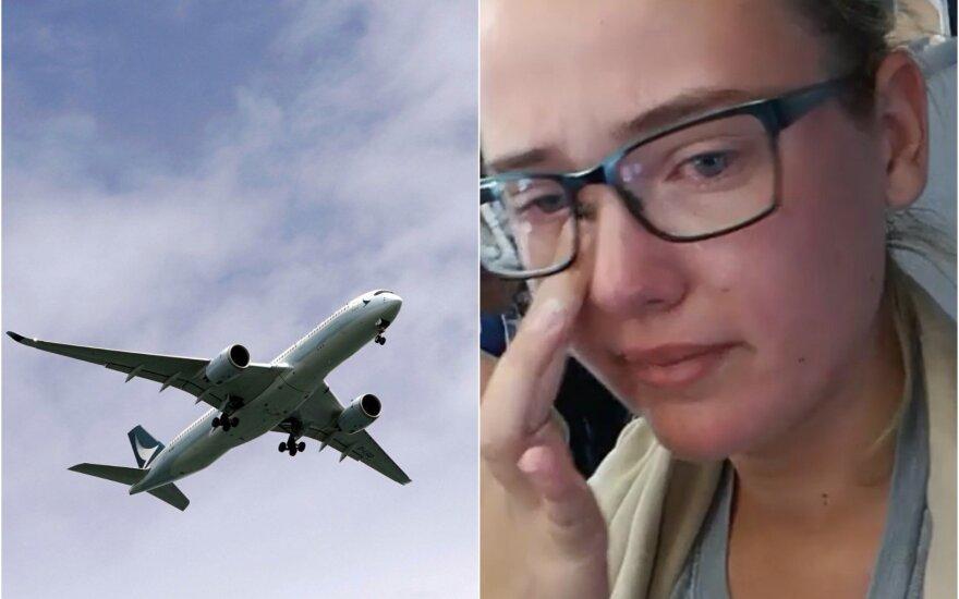 """Po incidento lėktuve keleiviai pratrūko ploti: neteisinga """"žmones siųsti į pragarą"""""""