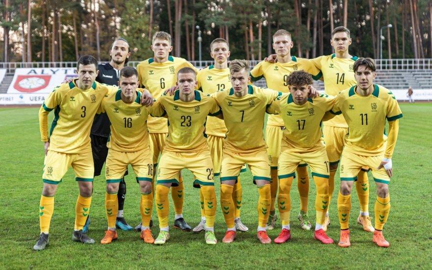 Lietuvos U-21 futbolo rinktinė (Alytus, 2021 m., LFF nuotr.)