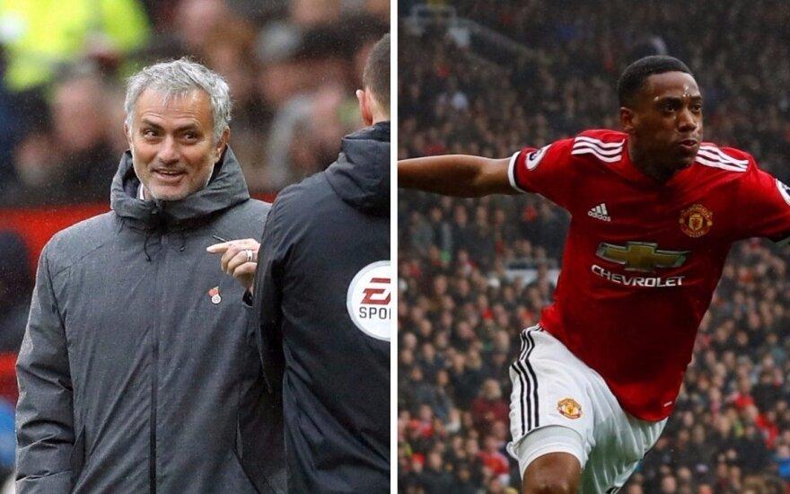 Jose Mourinho ir Anthony Martial
