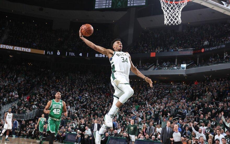 """NBA, """"Bucks"""" - """"Celtics"""", Giannis Antetokounmpo"""