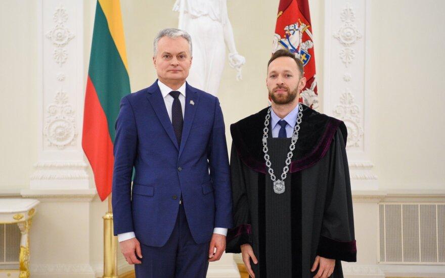 Gitanas Nausėda ir Dominykas Rusonis