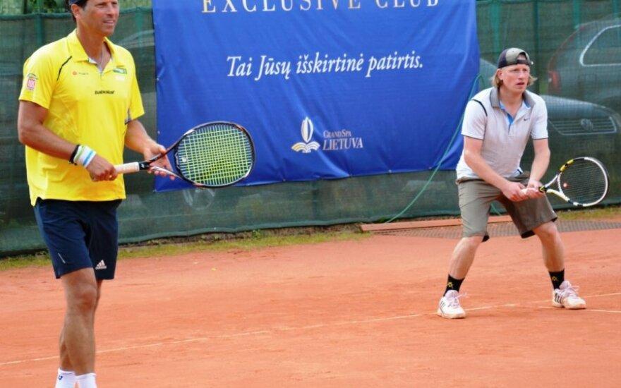 "Teniso turnyro ""GRAND SPA LIETUVA TAURĖ"" akimirka (Gintaro Grigo nuotr.)"