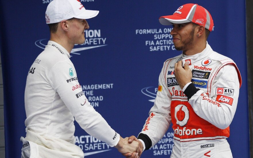 Michaelis Schumacheris ir Lewisas Hamiltonas
