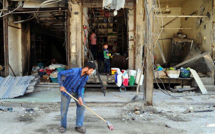 Sirijoje hospitalizuotas mažiausiai 21 dujomis apsinuodijęs žmogus