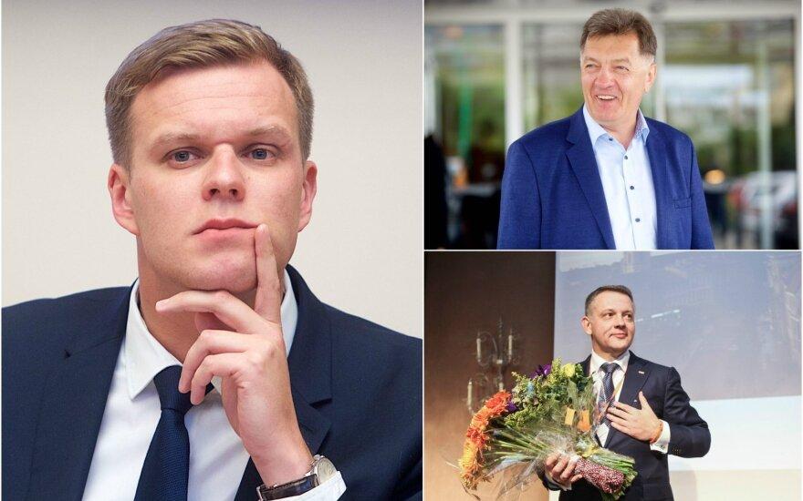 Gabrielius Landsbergis, Algirdas Butkevičius ir Eligijus Masiulis