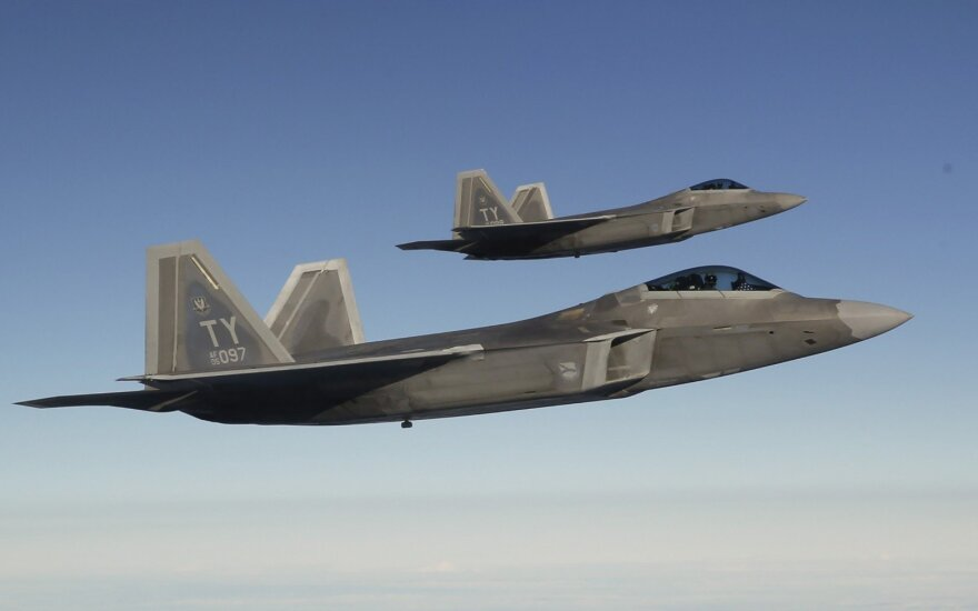 US F-22 stealth fighters land in Lithuanian airbase