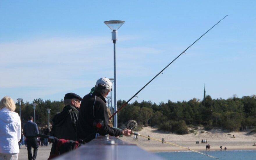 Žvejyba nuo Palangos tilto