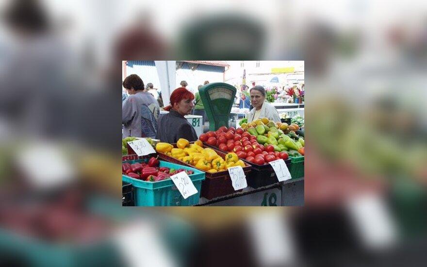 Turgus, daržovės