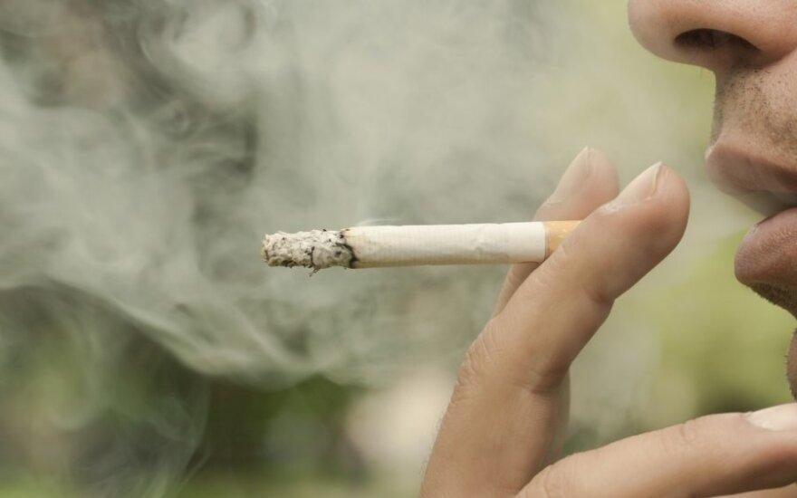 Draudimas rūkyti viešumoje už šešėlį skatinančius akcizus efektyvesnis