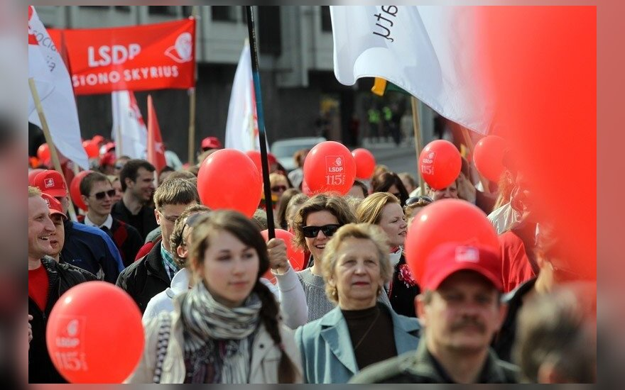 Lithuanian Social Democrats on a May 1 parade