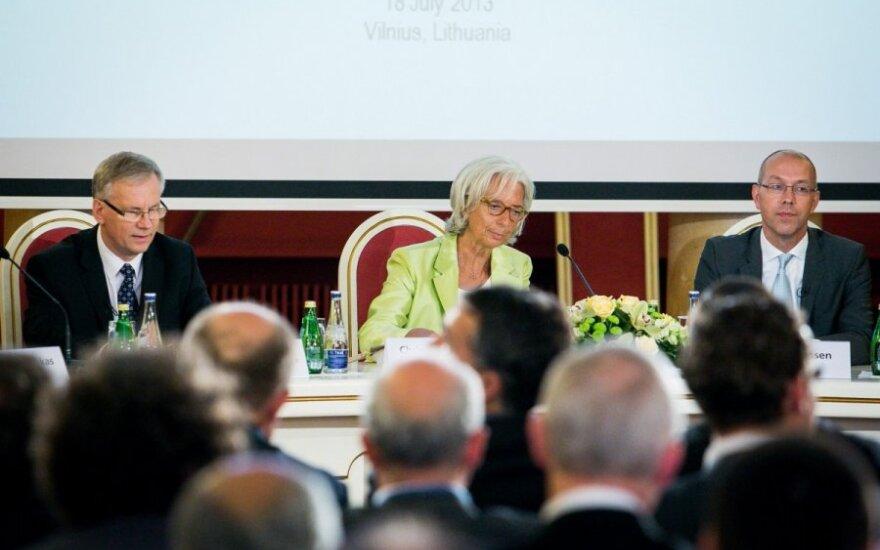 Rimantas Šadžius, Christine Lagarde ir Jorgas Asmussenas