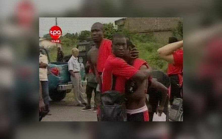 Togo futbolo rinktinės žaidėjai po teroristų išpuolio