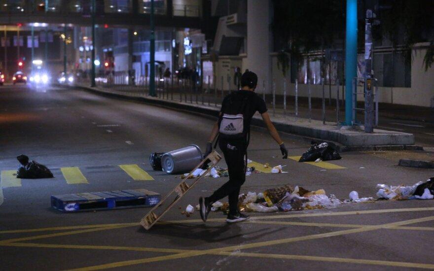 Honkonge policijai nutraukus universiteto apsiaustį planuojami nauji protestai
