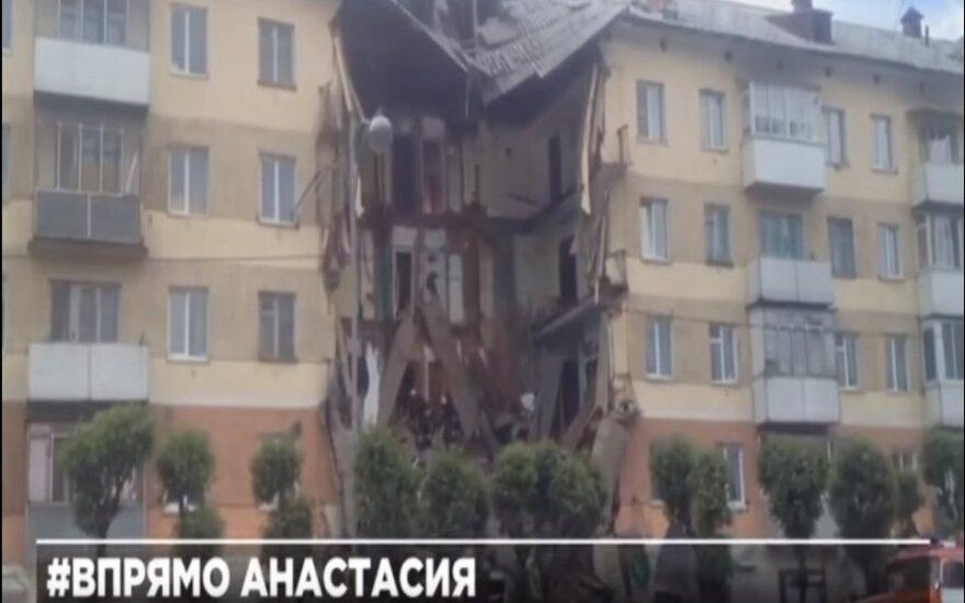 Rusijoje sugriuvo daugiabučio laiptinė