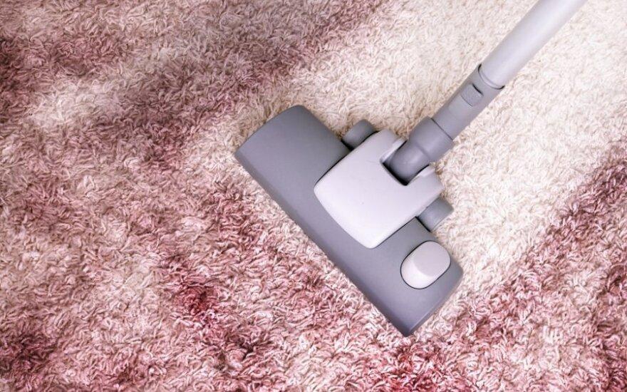 Pasidaryk pats: naminė priemonė kilimams valyti
