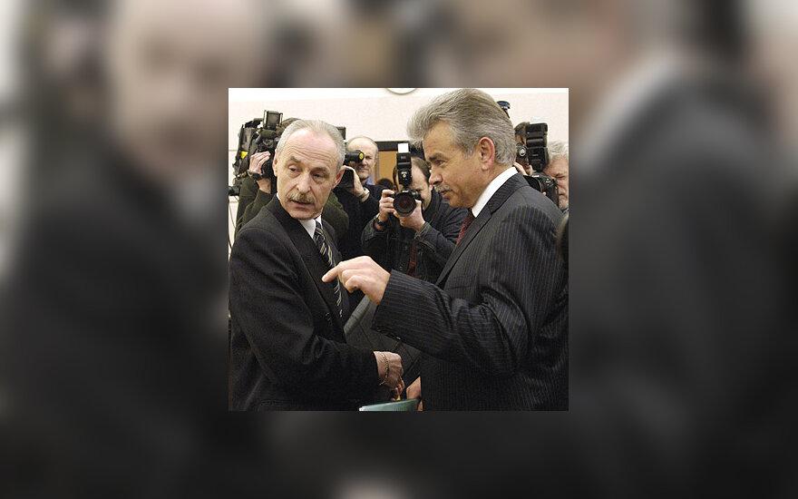Jurijus Borisovas su savo advokatu Adomu Liutvinsku