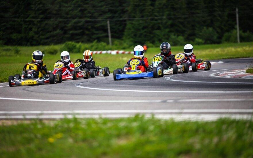 """Lietuvos kartingo čempionate – """"Formulės-1"""" technologijos"""