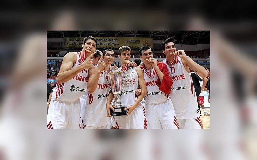 Turkijos jaunių krepšinio rinktinė - Europos čempionė