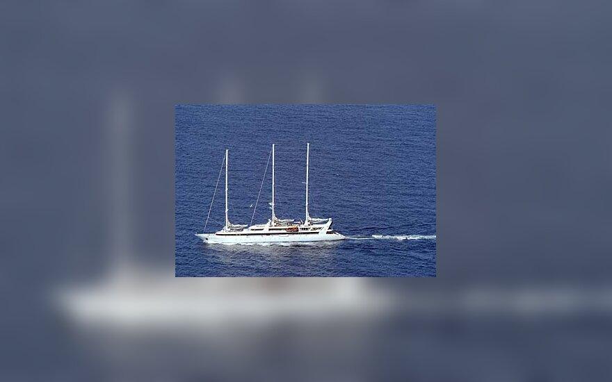 """Somalyje pagrobta prancūzų jachta """"Le Ponant"""""""