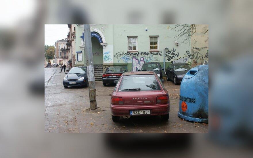 Parkavimas Vilniuje, Pylimo g. 9, 2009-10-12, 10 val.